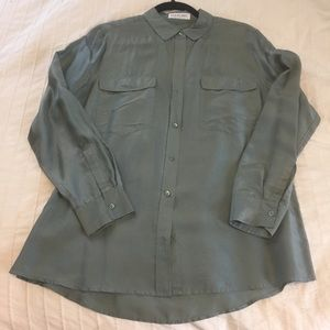 Habotai Silk Long Sleeve Blouse